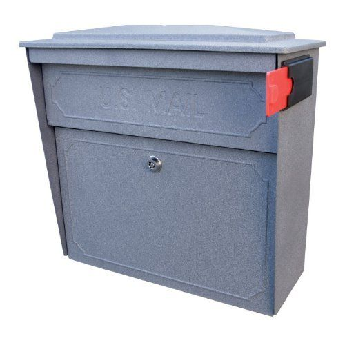 Mail Boss Townhouse Wall Mount Locking Mail Box Granite - Mail Boss 7171 by Mail Boss. $129.00. Stainless steel hinges for lasting use. Locking access door. 14- and 16-gauge welded electro-galvanized steel. Commercial grade 7-pin brass core tube lock. Innovative patented anti-pry latch locking mechanism to prevent leveraged entry. Mail Boss 7171 Townhouse Wall Mount Locking Mail Box Granite.