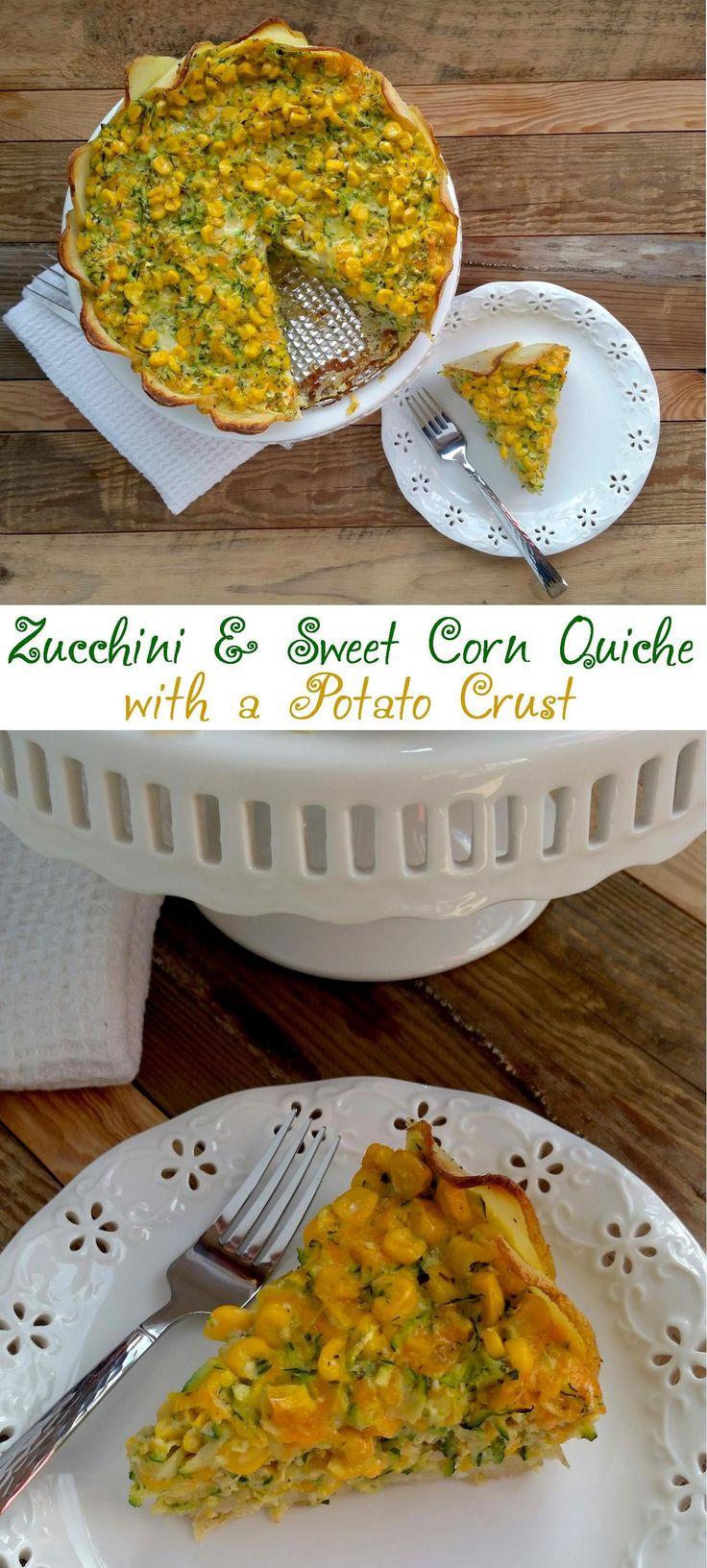 Zucchini and Corn Quiche with a Potato Crust | Recipe ...