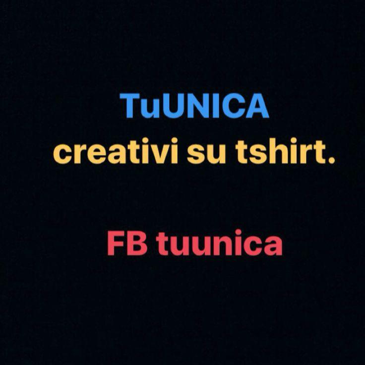 Tshirt  www.instagram.com/associazionetuunica