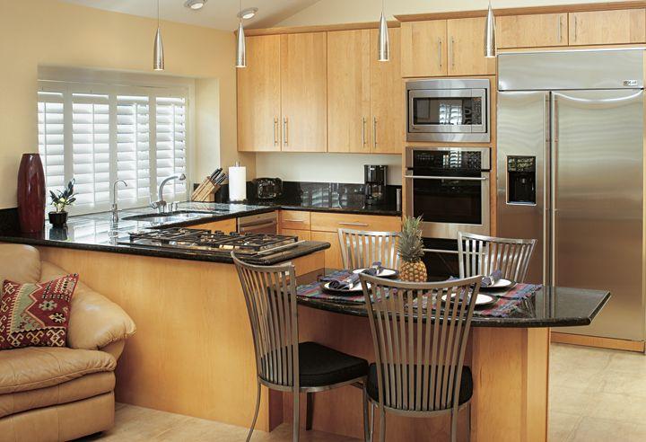 Maple Slab Front Kitchen Cabinets Kitchen Ideas Pinterest