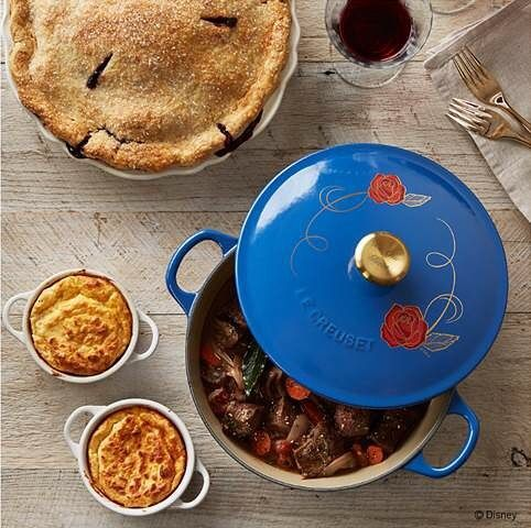 Don't miss your opportunity to get this limited time beauty!  The limited edition blue enameled cast iron soup pot is decorated with the signature Beauty and the Beast rose with an oversized gold knob bearing the inscription Be Our Guest. Starting today the limited quantity of five hundred pots is available for purchase at williams-sonoma.com lecreuset.com and Le Creuset Signature Stores.  http://ift.tt/2loHgK2  #BeOurGuest #BeautyAndTheBeast  Then on Saturday March 4th Williams-Sonoma…