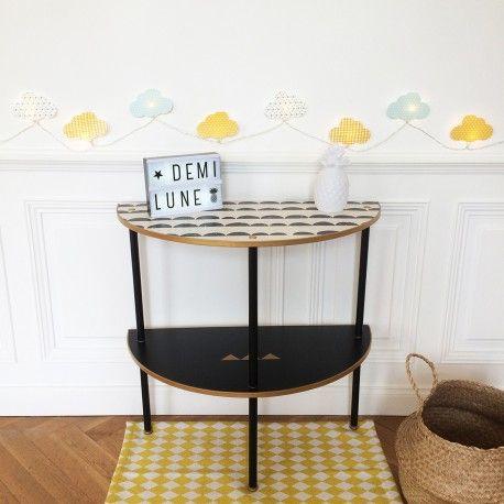 Console «Demi Lune» #console #decoration #vintage #home #interior #design #collectorchic #chic d'occasion vintage, design, scandinave, industriel, ancien vendu sur Collector Chic dépôt-vente