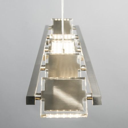 Lampa wisząca Escalera stal #designlampa #nowoczesnelampy #lampyled