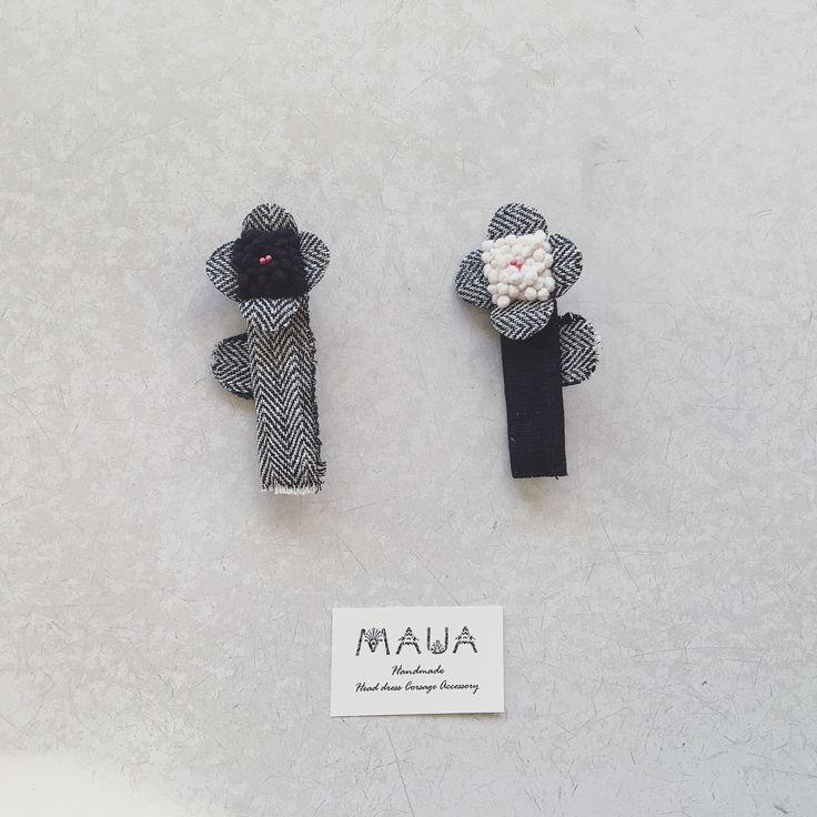 """48 Me gusta, 1 comentarios - MAUA (@mauauam) en Instagram: """"・ ・ ・ しかくの花 ◻︎ ・ ・ ウールとかツィード生地に見えると お友達には言われましたが、 ・ リネンの生地を使っています。 ・ ・ 7/28(金)〜30(日) 布博 のブローチ博へ ・…"""""""