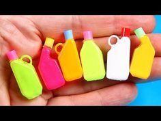 DIY Miniature Detergent Bottles - YouTube