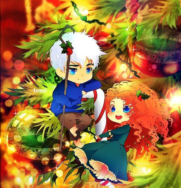 rise of the guardians x brave, jack frost, merida