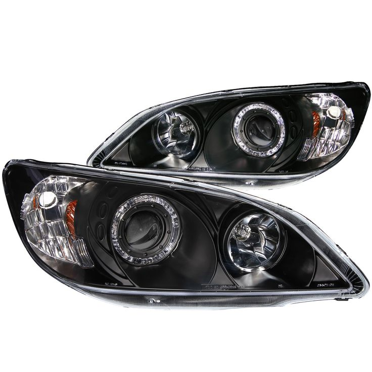 ANZO Projector Headlights with Halo Black 2004-2005 Honda Civic - Set of 2 (Does not fit Hatchback)