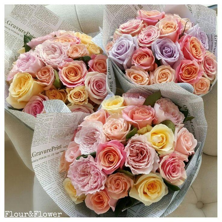 Bouquets created by Flour&Flower, West Riffa, Bahrain. @flourandflowerb