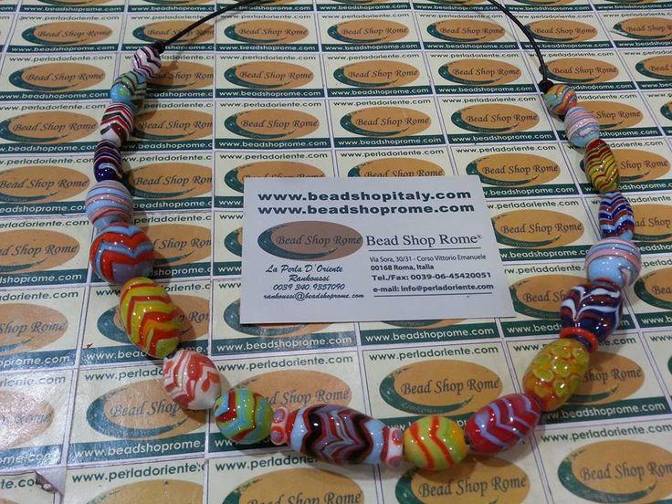zic zac artistic glass beads by Rankoussi