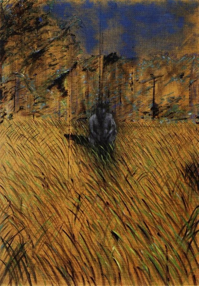 Francis Bacon study of a figure in a landscape 1952