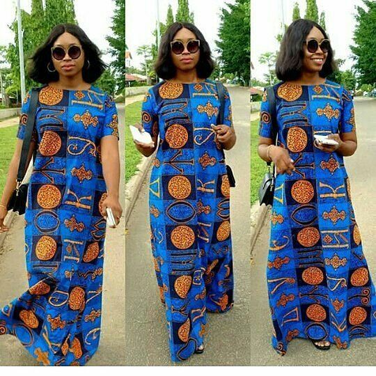 Simple A Shape Ankara Long Gown Styles For Beautiful Ladies Modèle