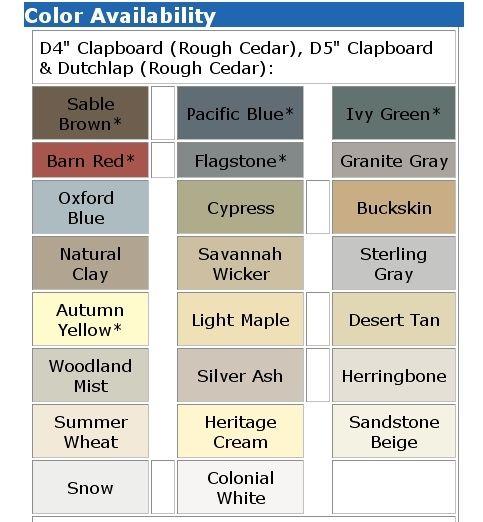 Vinyl Siding Colors Michigan Vinyl Siding Colors