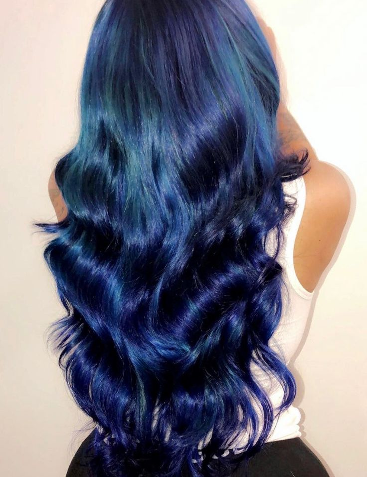 Sew In Weave Hairstyle With Color Just Love This Blue