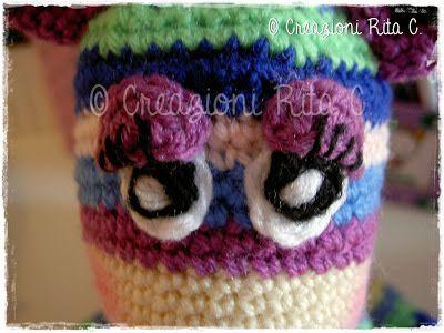 """Creazioni Rita C. ... Only Handmade!: La mia """"Stripy Giraffe""""... Vuoi realizzarne una anche tu?"""
