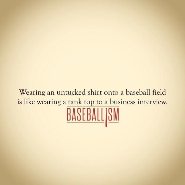 THIS! I want to scream when I see girls show up at games all untucked