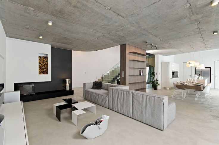 Concrete Interior by oooox | HomeDSGN, a daily source for inspiration and fresh ideas on interior design and home decoration.