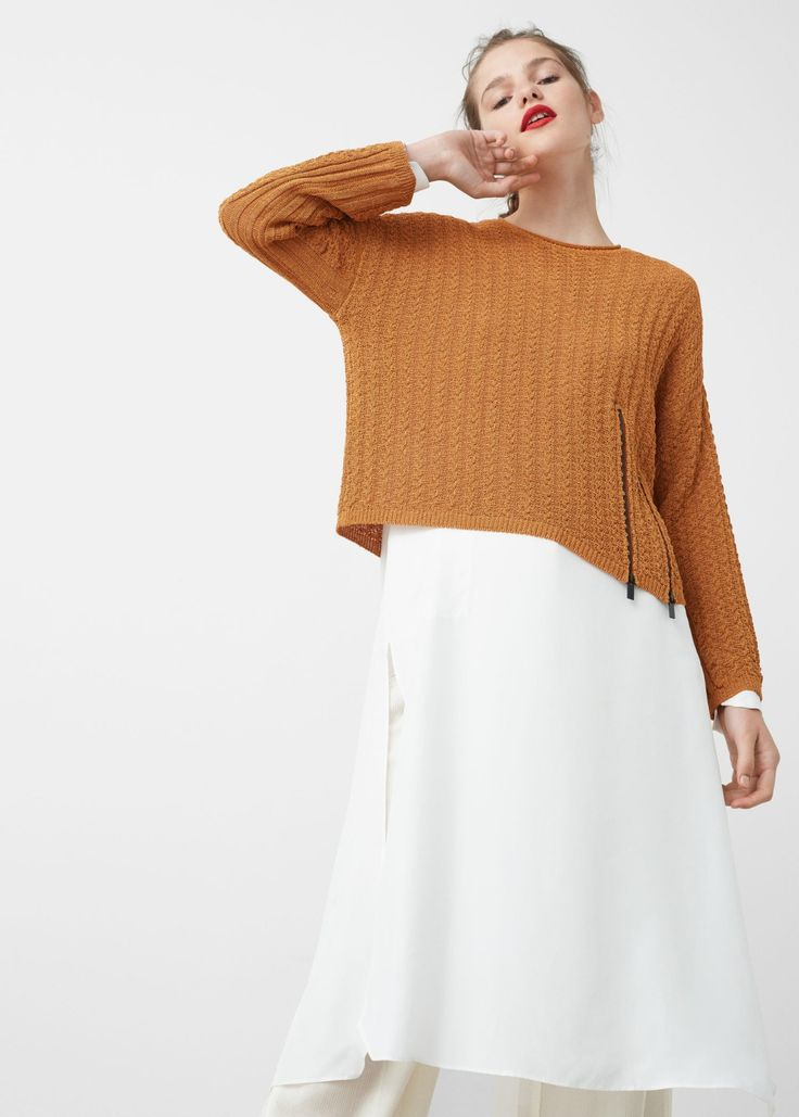 Love this vibrant pullover cotton sweater.