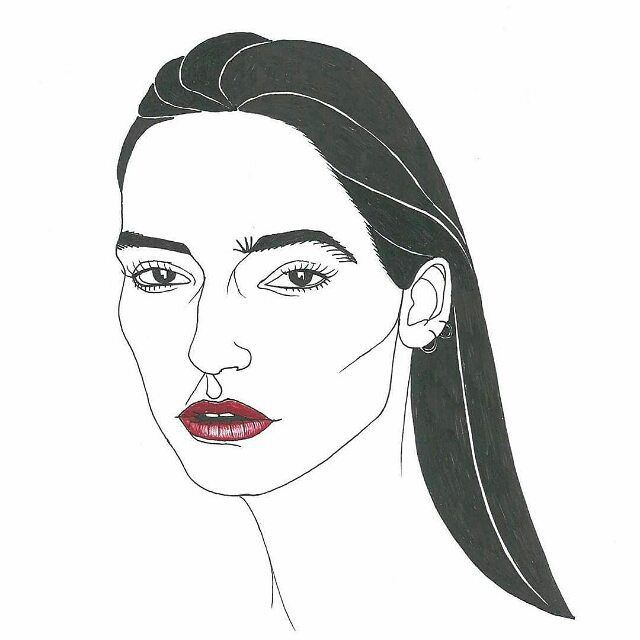 #droolyapp @gaiabottacin  Beautiful @nostalgieistantanee by me! #art #arte #illustrazione #illustration #portrait #sketch #blackandwhite #red #beauty #drawing #disegni #immagini #ritratti #girl
