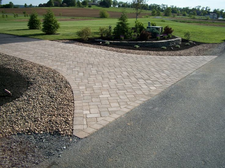 driveway entrance landscaping ideas | The Blog of Weavers Landscape Company: Paver Driveway Entrance