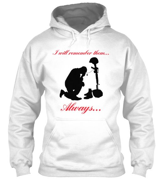 Limited Edition Memorial Hoodie | Teespring Only ten hours left for this campaign. One of the nicest to be designed! Check the back! Great for casual wear on Remembrance/Memorial Day and all year long...