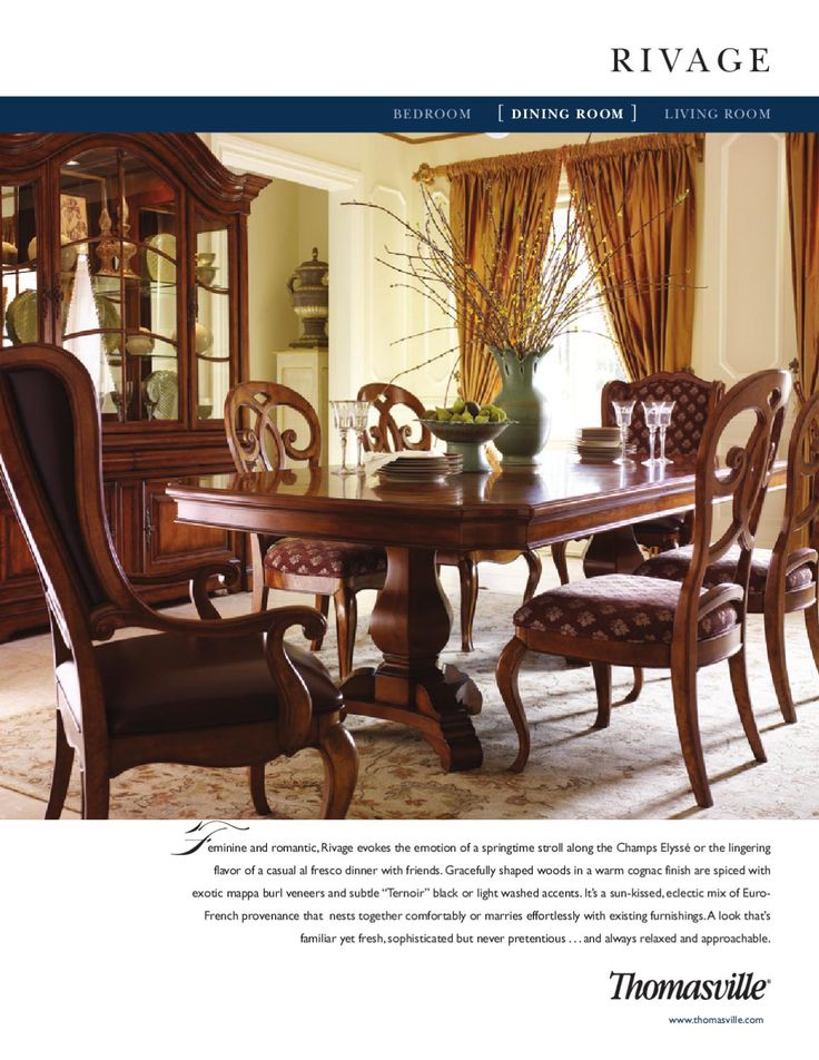 Thomasville rivage dining room china to get and for Thomasville dining room