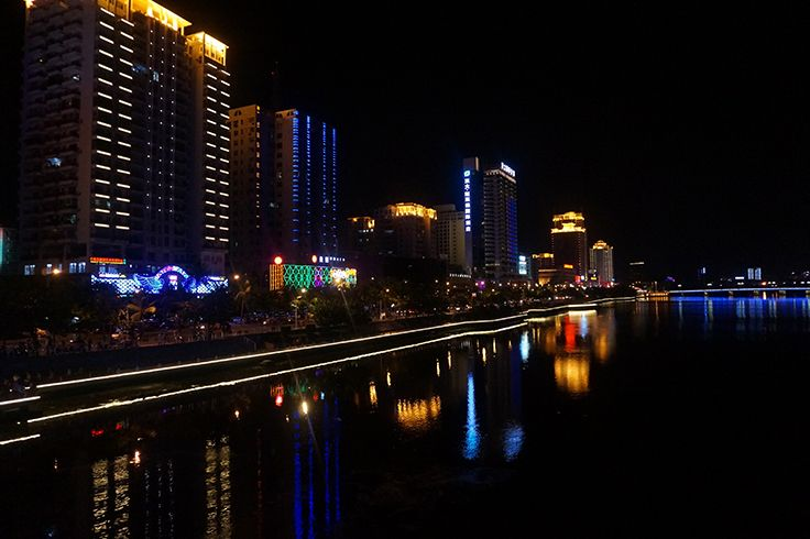 Beautiful #Sanya night view along Sanya River.  #Whererefreshingbegins
