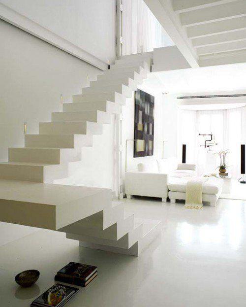 white steps