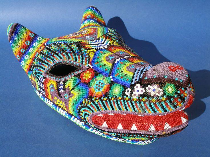 Huichol Papel Mache Coyote Mask