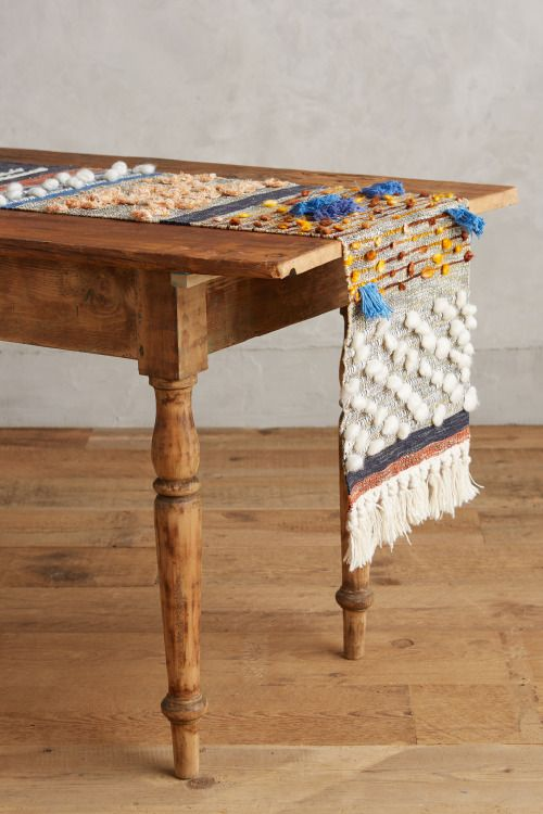 Textural woven table runner by All Roads for Anthropologie. Majida Collection. Fall 2015 | All Roads.