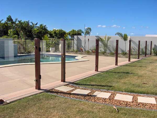 Semi Frameless Pool Fencing 10mm Clear Toughened Glass 10mm Toughened Glass Glass Pool Fencing Glass Pool Pool Gate