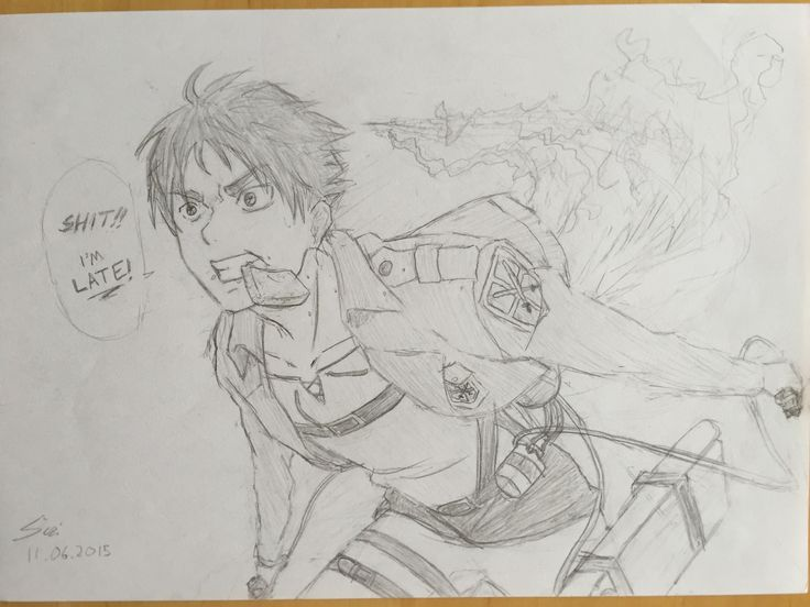 Inspiration from snk. Eren is late!