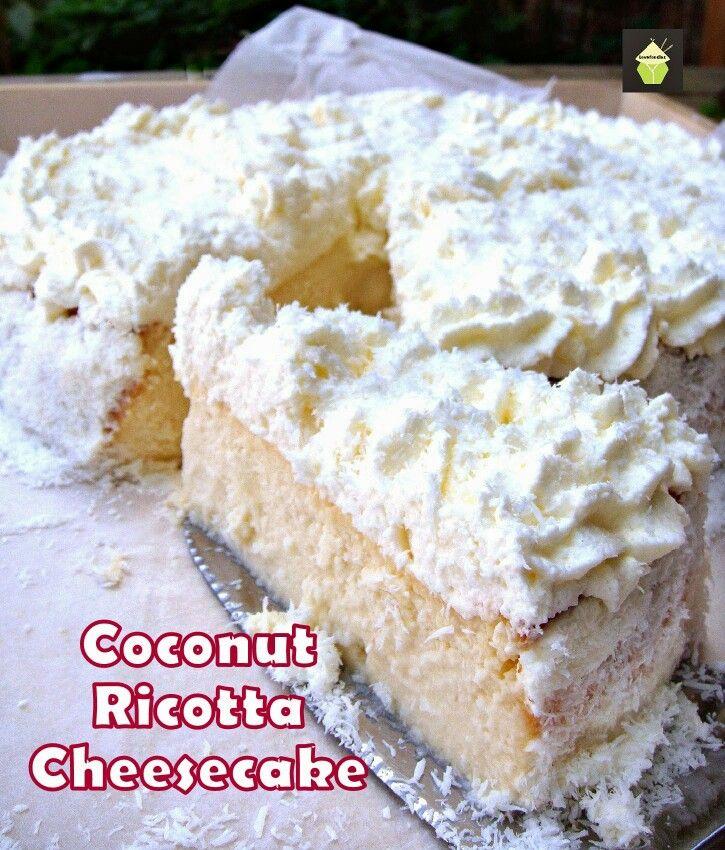 Cheese cake cocco e ricotta