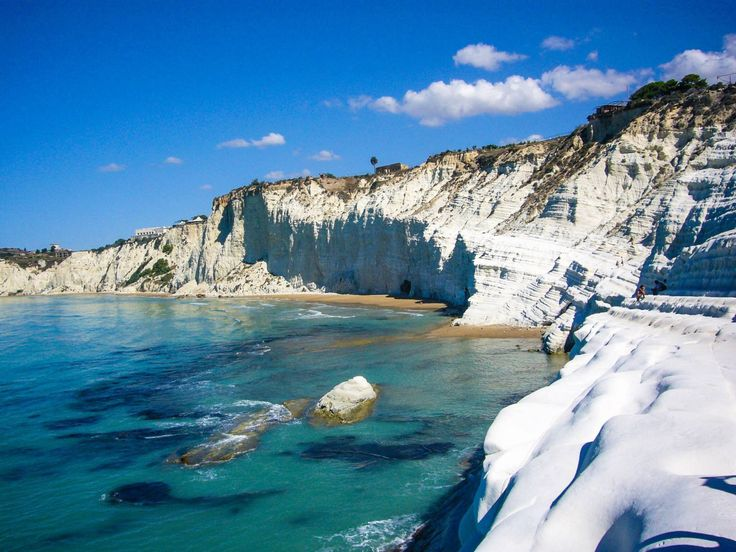 Scala dei Turchi, en la costa de Agrigento al sur de Sicilia, Italia.