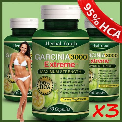 3 X garcinia cambogia extract 95%HCA slimming diet products to weight lose and burn fat garcinia cambogia for slimming product