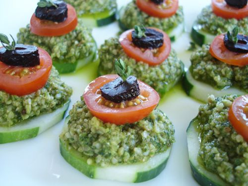 174 best images about raw vegan appetizers on pinterest for Canape fillings indian