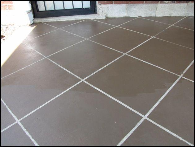 new tile patio floor reveal - Patio Slab Ideas