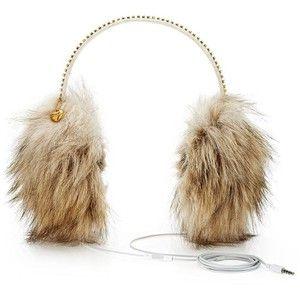 Faux Fur Ear Muff Headphones