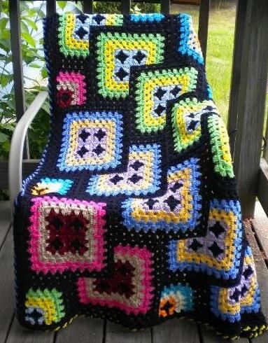 Me encanto!! Alternativa a las típicas cobijas de cuadrito!! Proyecto para nuestro hogar!! : )  crochet blanket