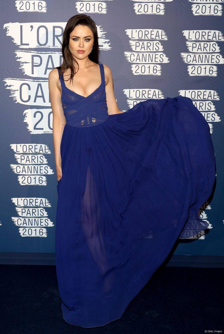 Kristina Bazan lors de la soirée L'Oréal Paris Blue Obsession Party