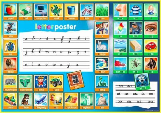 Letterposter - Taal/lezen - Blijfwijs.nl