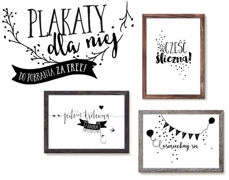 My Pink Plum!: 3 plakaty tylko dla niej – grafika do druku