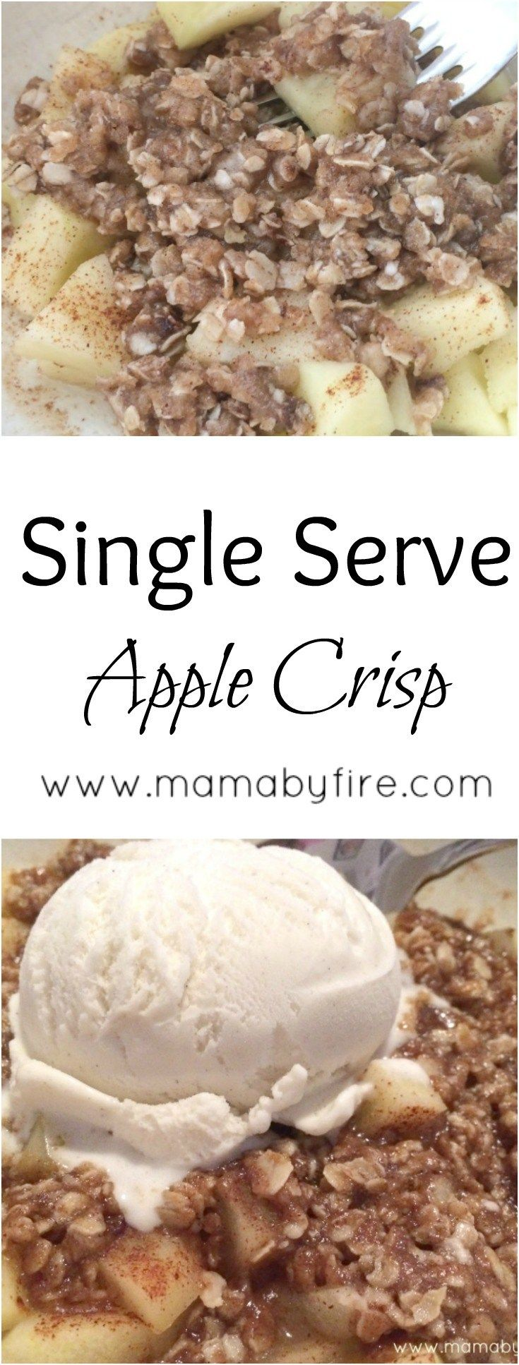 This single serving of apple crisp is a delicious, fast dessert for one (or maybe even two) people!