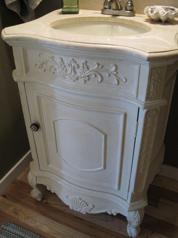 Best 20 painting bathroom vanities ideas on pinterest for Powder room vanity ideas