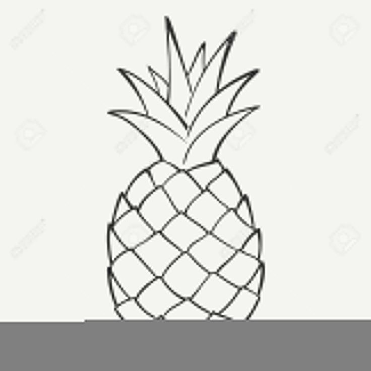 pineapple clipart black and white. black pineapple clipart and white