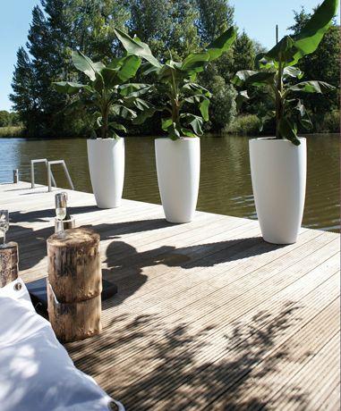 pure soft round high - ELHO - Beautiful living 90 cm high - white