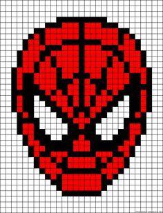 Spiderman perler bead pattern