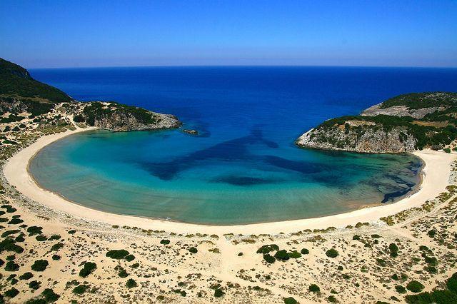 Messinia | Voidokilia beach by Visit Greece, via Flickr