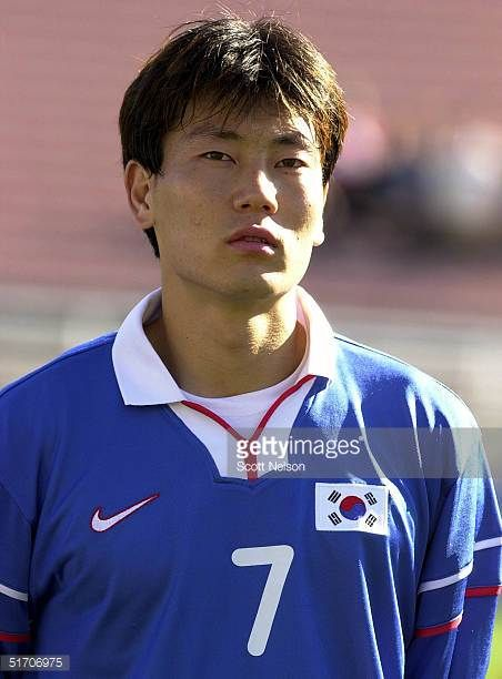 ChongGug Song from South Korea poses during the Gold Cup soccer tournament in PasadenaCalifornia 02 February 2002 AFP PHOTO/Scott NELSON