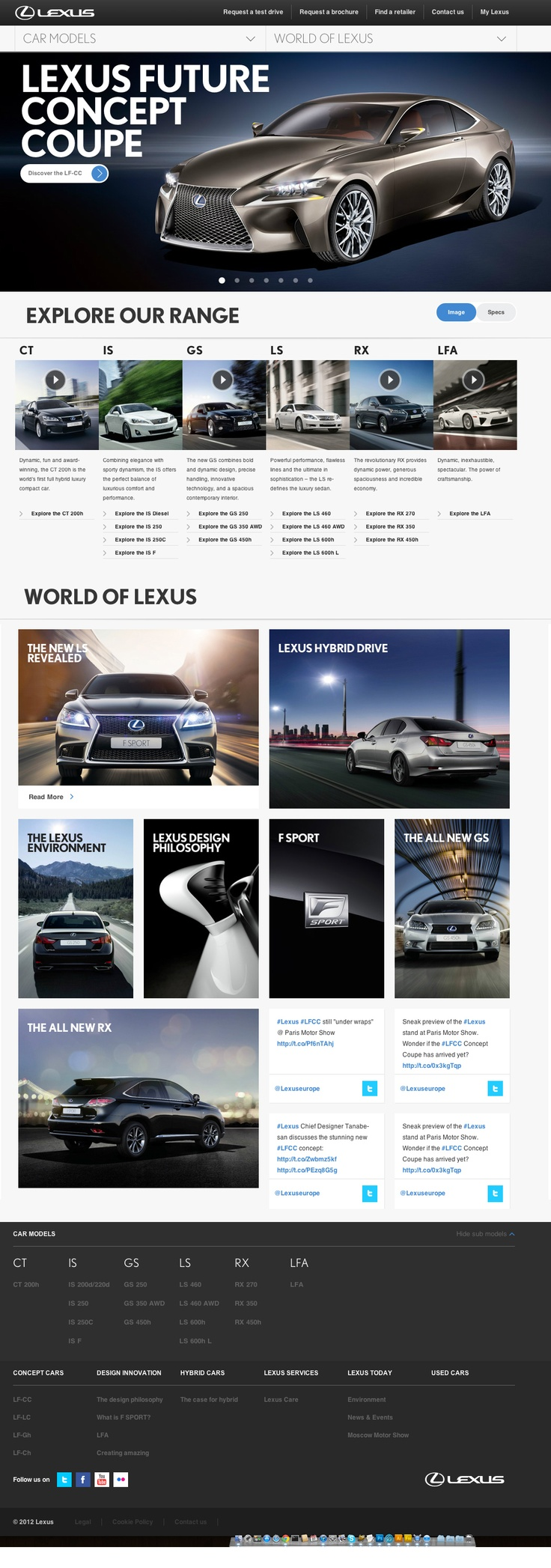Lexus Home Page Layout