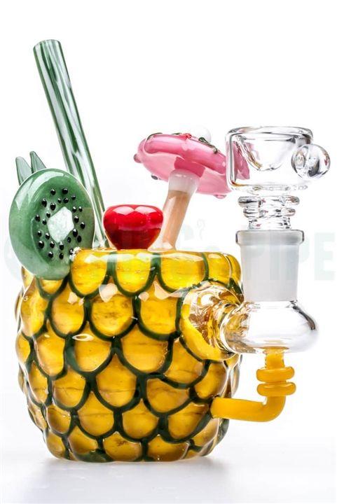 EMPIRE GLASSWORKS - MINI PINEAPPLE PARADISE OIL RIG on KING's Pipe Online Headshop #420 #710
